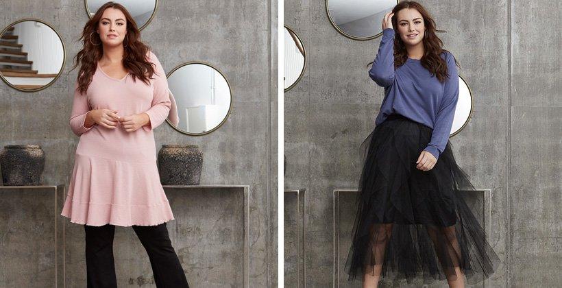 Tøj til store piger | dametøj i plus size størrelser 42 58