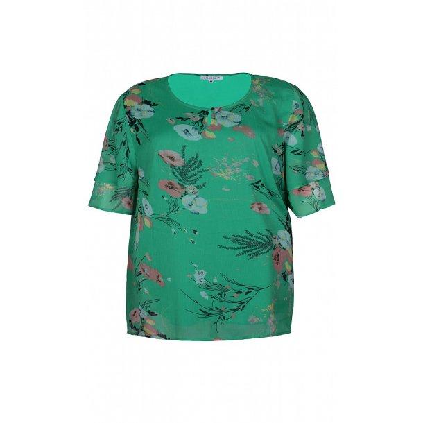 7b6c9b0954c0 Christa Bluse Grøn - Bluse kort ærme - scooponline