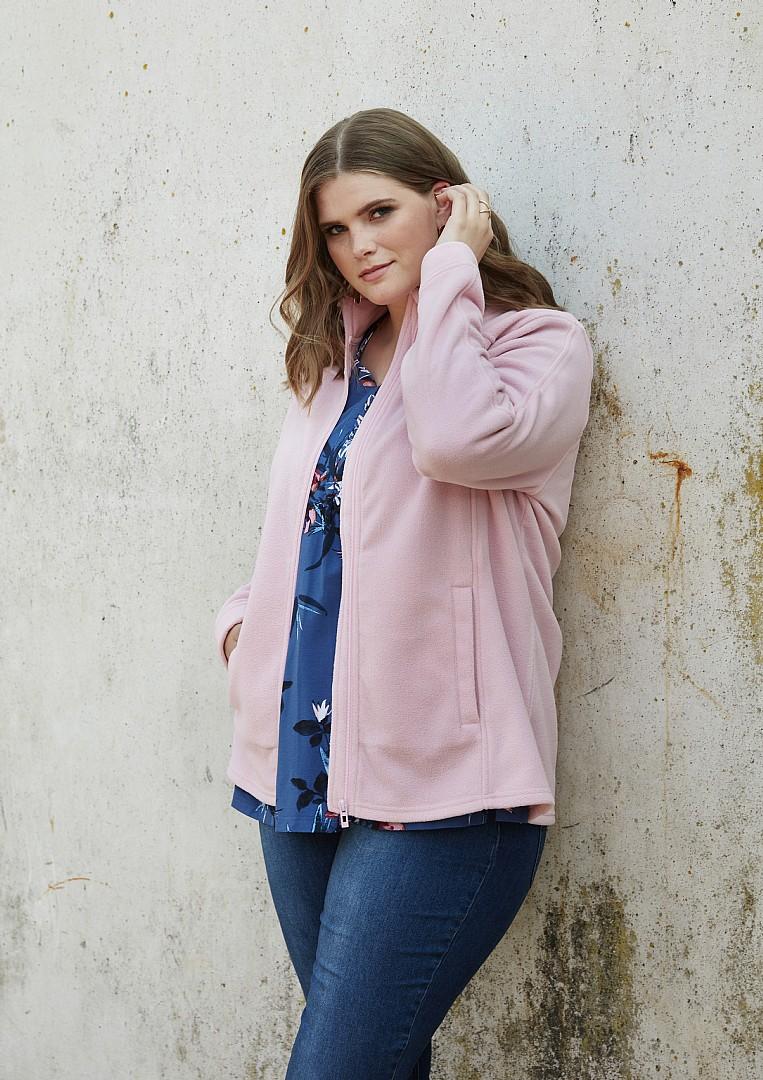 b346e8f58 Fleece Jakke Pink